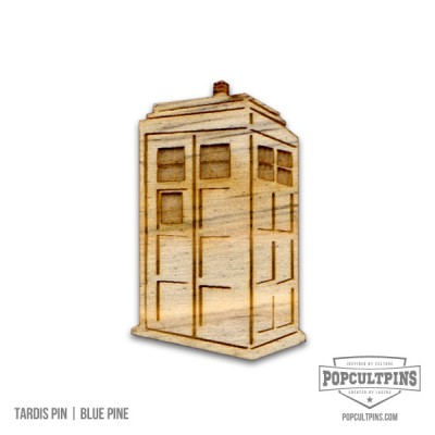 Doctor Who TARDIS inspired Blue Pine pin