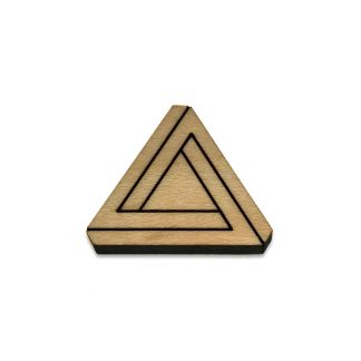 Penrose Triangle Lapel Pin