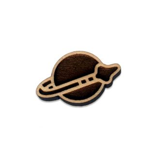 Retro Brick Space Force Lapel Pin