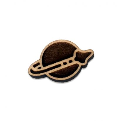 Retro Brick Space Force Lapel Pin