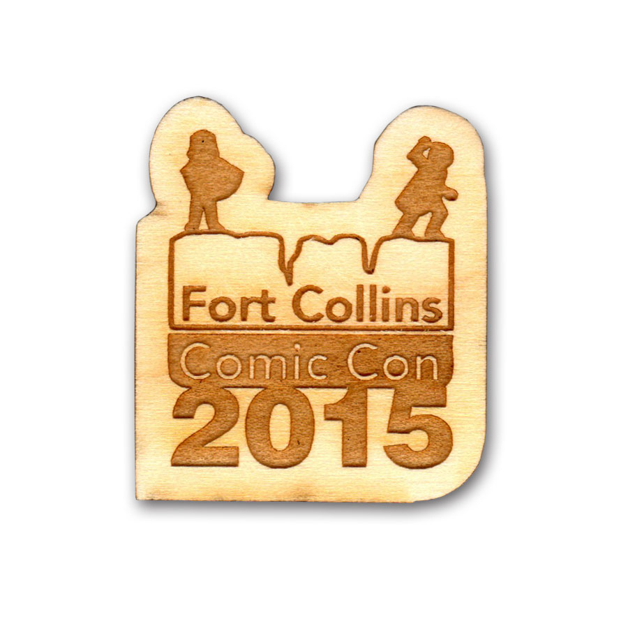 Lapel Pin Fort Collins Comic Con 2015