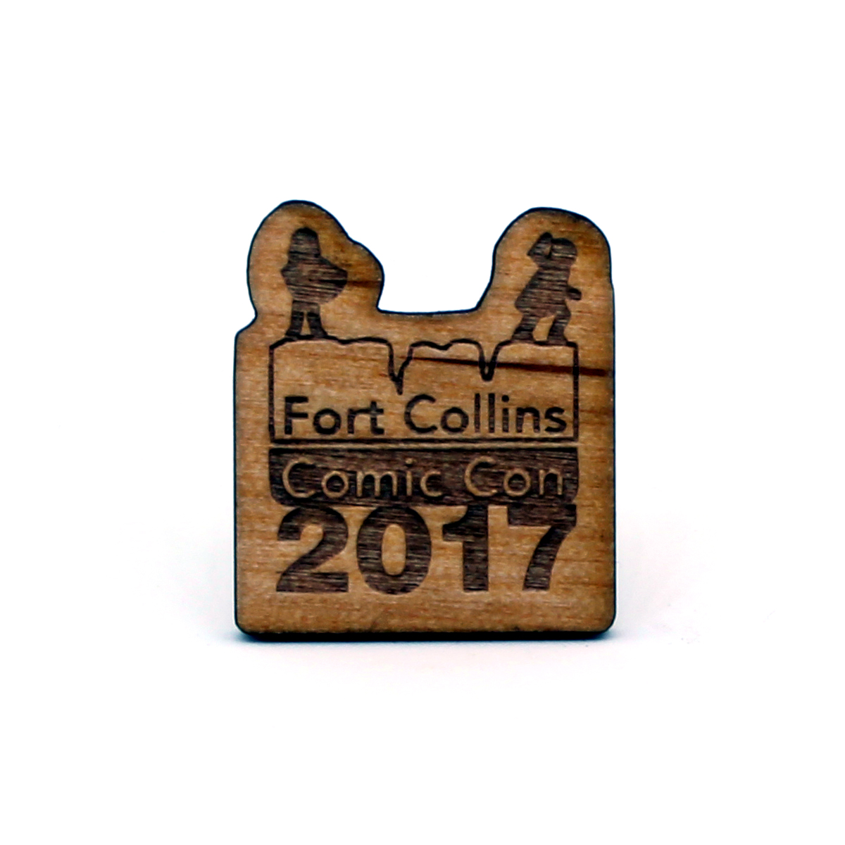 Lapel Pin Fort Collins Comic Con 2017